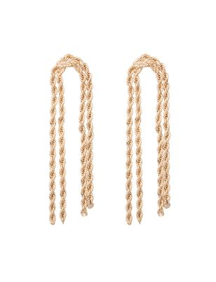 Twisted Chain Dangle Earrings