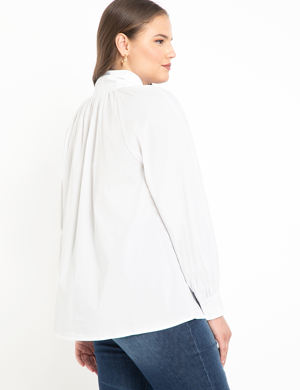 Poplin Bow Blouse