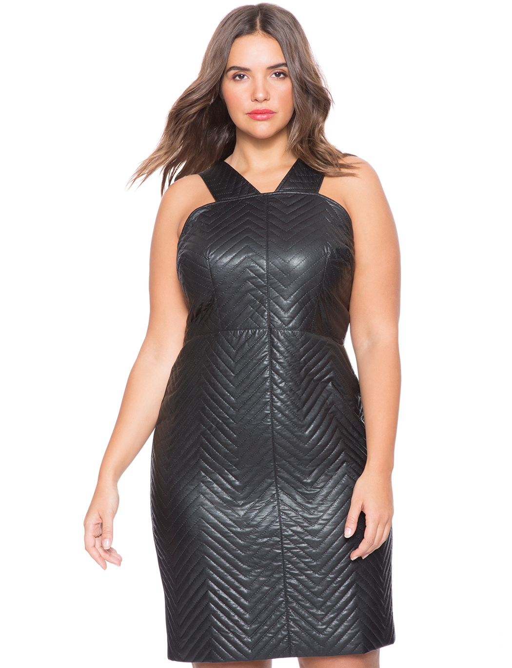 Quilted Faux Leather Dress | Women\'s Plus Size Dresses | ELOQUII