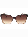Shield Front Butterfly Sunglasses BROWN