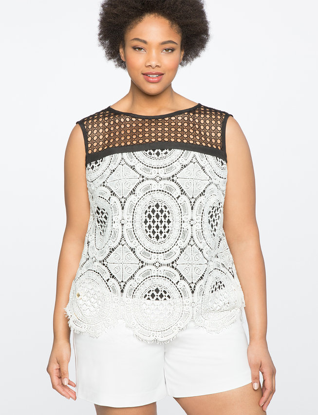 Mixed Lace Shell