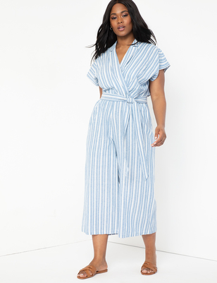 Linen Cropped Jumpsuit