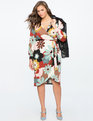 Printed Wrap Dress with Tie DAISY ME ROLLIN'