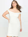 Sweetheart Off the Shoulder Dress WHITE