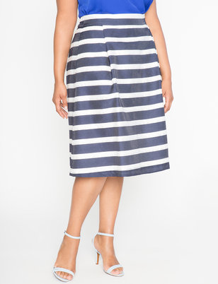Striped Midi Circle Skirt