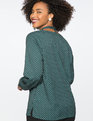 Tie Neck Top with Puff Sleeve Polka League