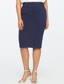 9-to-5 Stretch Work Skirt Maritime Blue