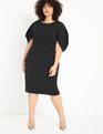Textured Knit Dress Totally Black