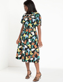 Cowl Fit And Flare Dress Floral