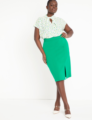 9-to-5 Pencil Skirt with Slit