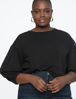 Placket Sleeve Top
