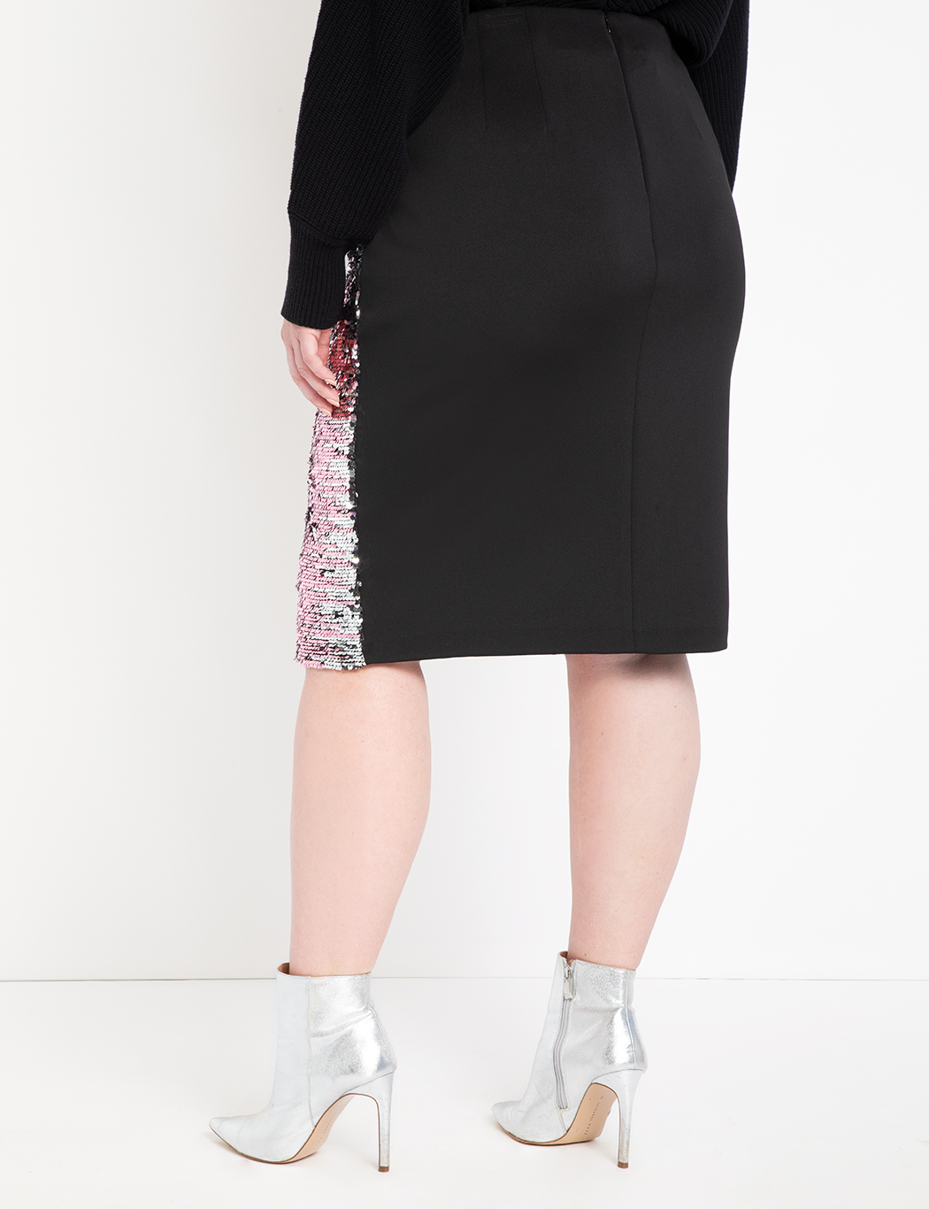 Studio Variegated Sequin Pencil Skirt
