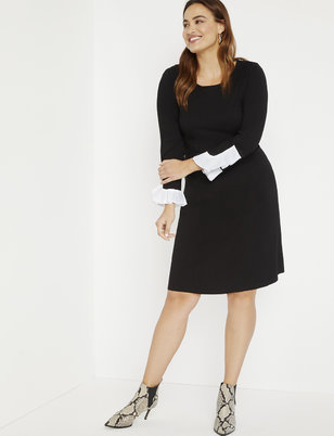 Aline Dress with Sleeve Detail