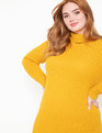 Honeycomb Turtleneck Sweater Dress Warm Weekend