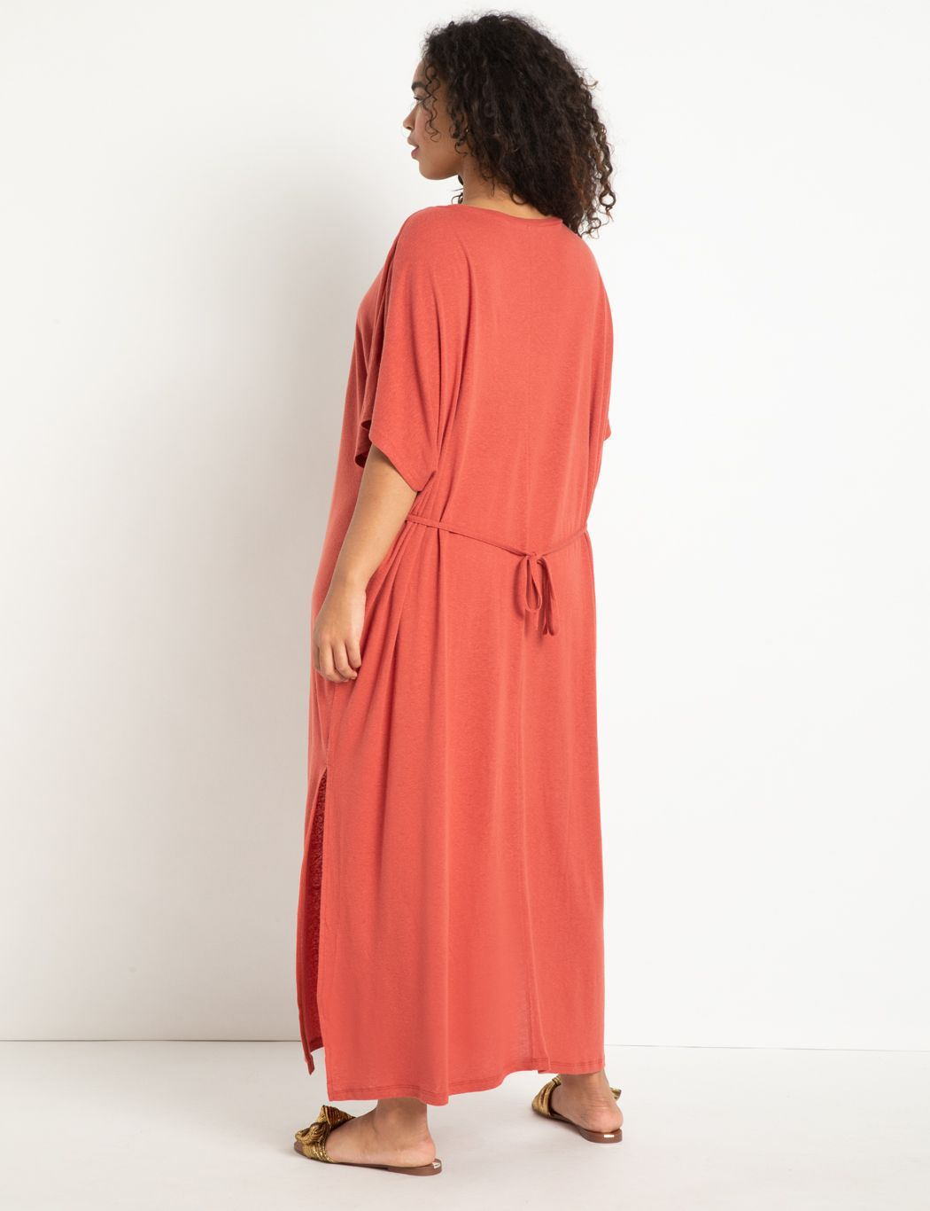 Tie Back Soft Back Dress