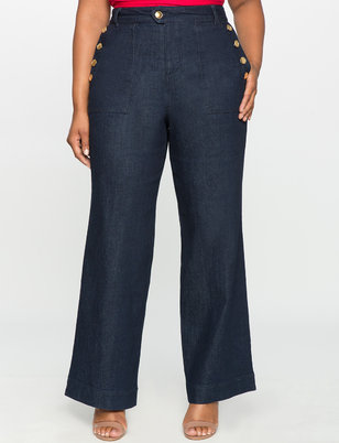 Nautical Wide Leg Jeans
