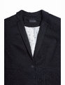 Elbow Patch Blazer Black with Grey Patches