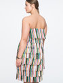 Fringe Strapless Dress  Rainbow