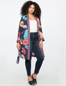 Mixed Print Duster Floral Print