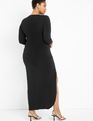 Ruched Gown Black