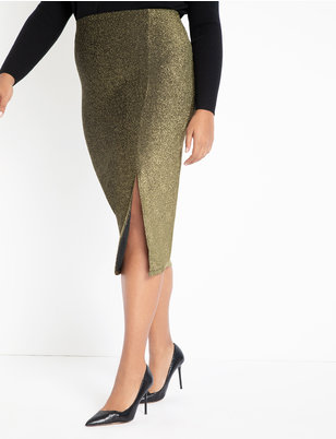 Sparkle Skirt with Slit
