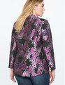Brocade Two Button Blazer Purple Floral