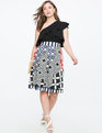 Printed Midi Skirt KALEIDOSCOPE DREAMS