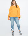 Tie Sleeve Sweatshirt Honey Glaze