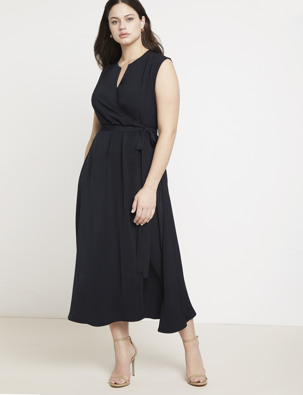 Jason Wu/ELOQUII Notch Collar Wrap Dress