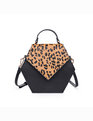 Leopard Print Hexagon Bag Leopard Print + Black