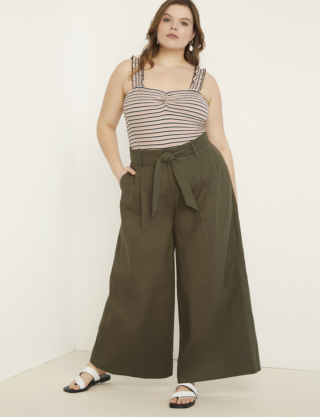 47a096f08be294 Linen Palazzo Pant | Women's Plus Size Pants | ELOQUII