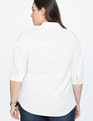 Drop Shoulder Tunic Top SOFT WHITE