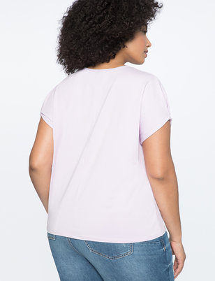 Pleated Puff Sleeve Tee