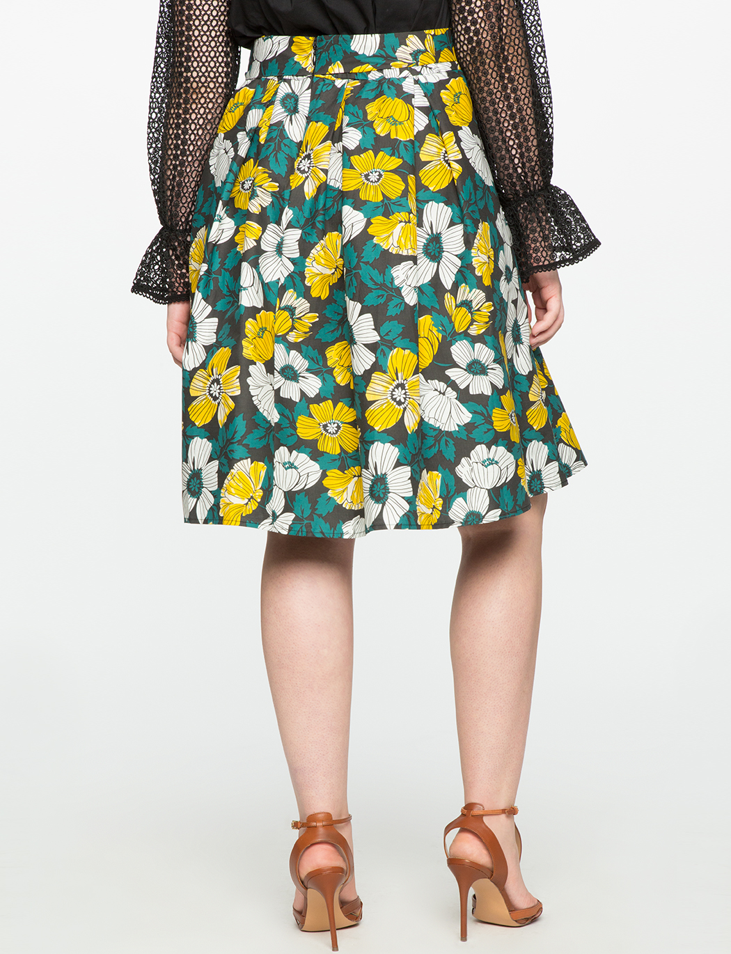 Studio Printed Tie Midi Skirt