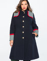 Studio Military Colorblock Coat
