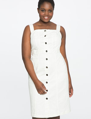 Button Front Detail Dress
