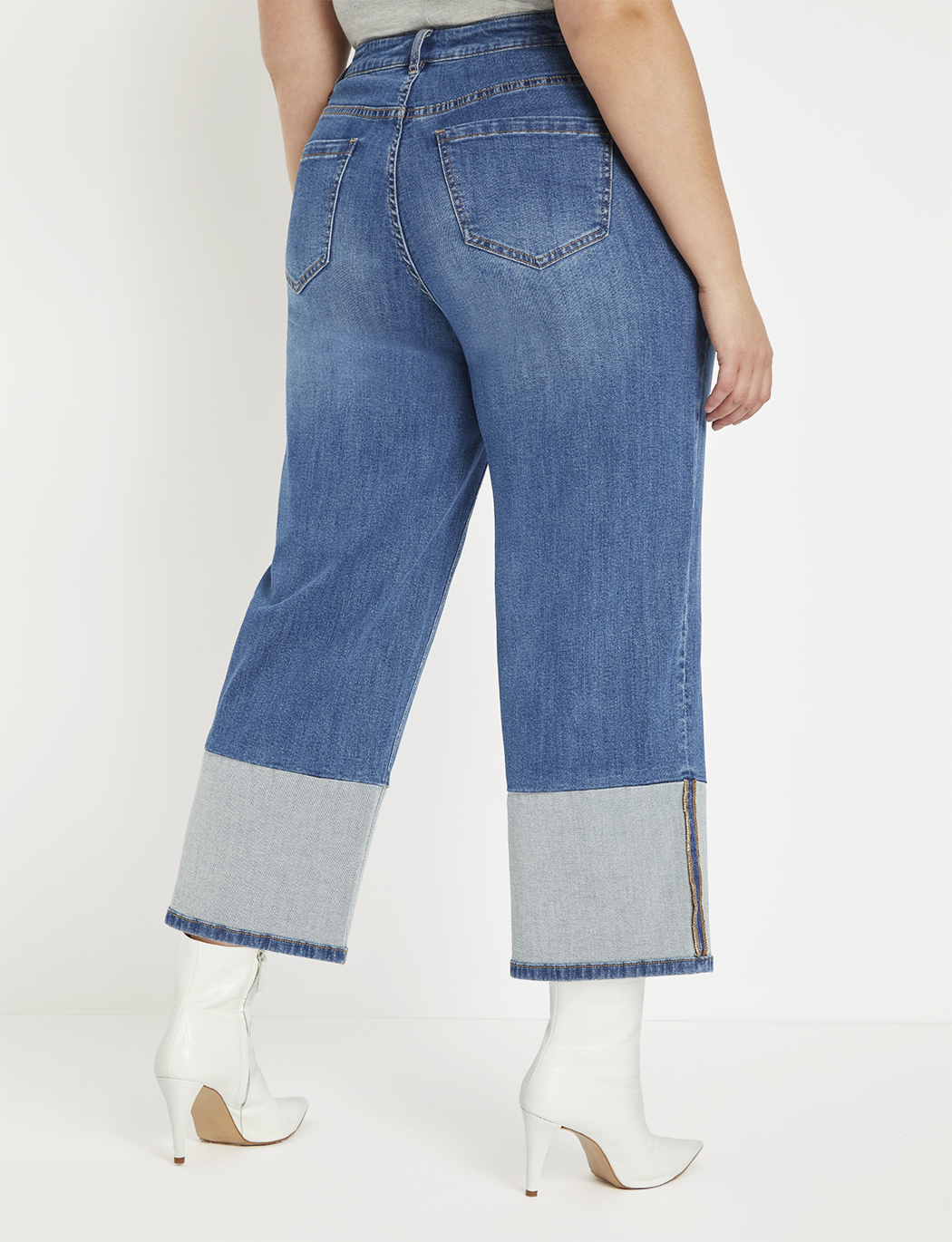Blocked Hem Crop Jean