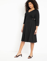 Buckle Waist Dress Black
