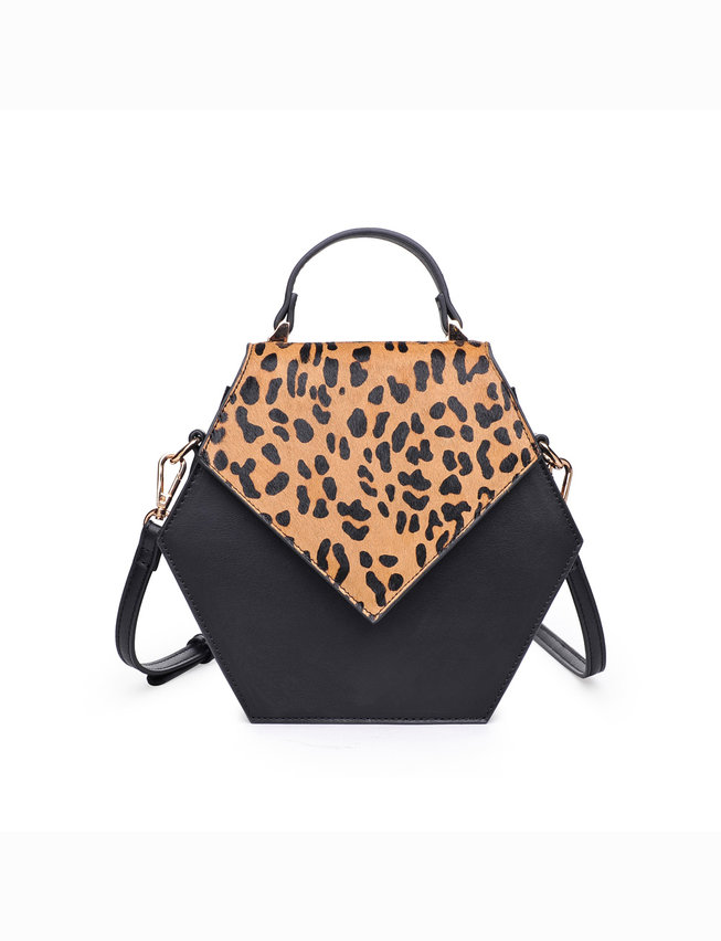 Leopard Print Hexagon Bag