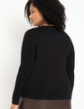 Dramatic Shoulder Long Sleeve Tee Black