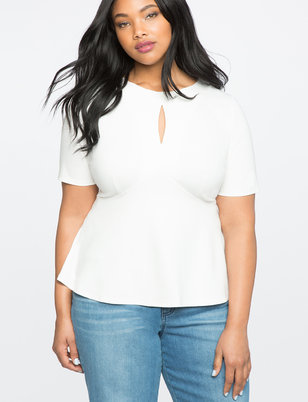 Keyhole Empire Flare Top