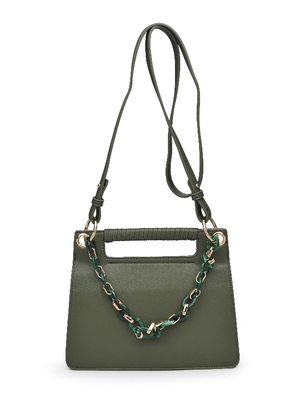 Resin Chain Crossbody Bag