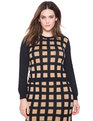 Studio Windowpane Sweater Black/Nude