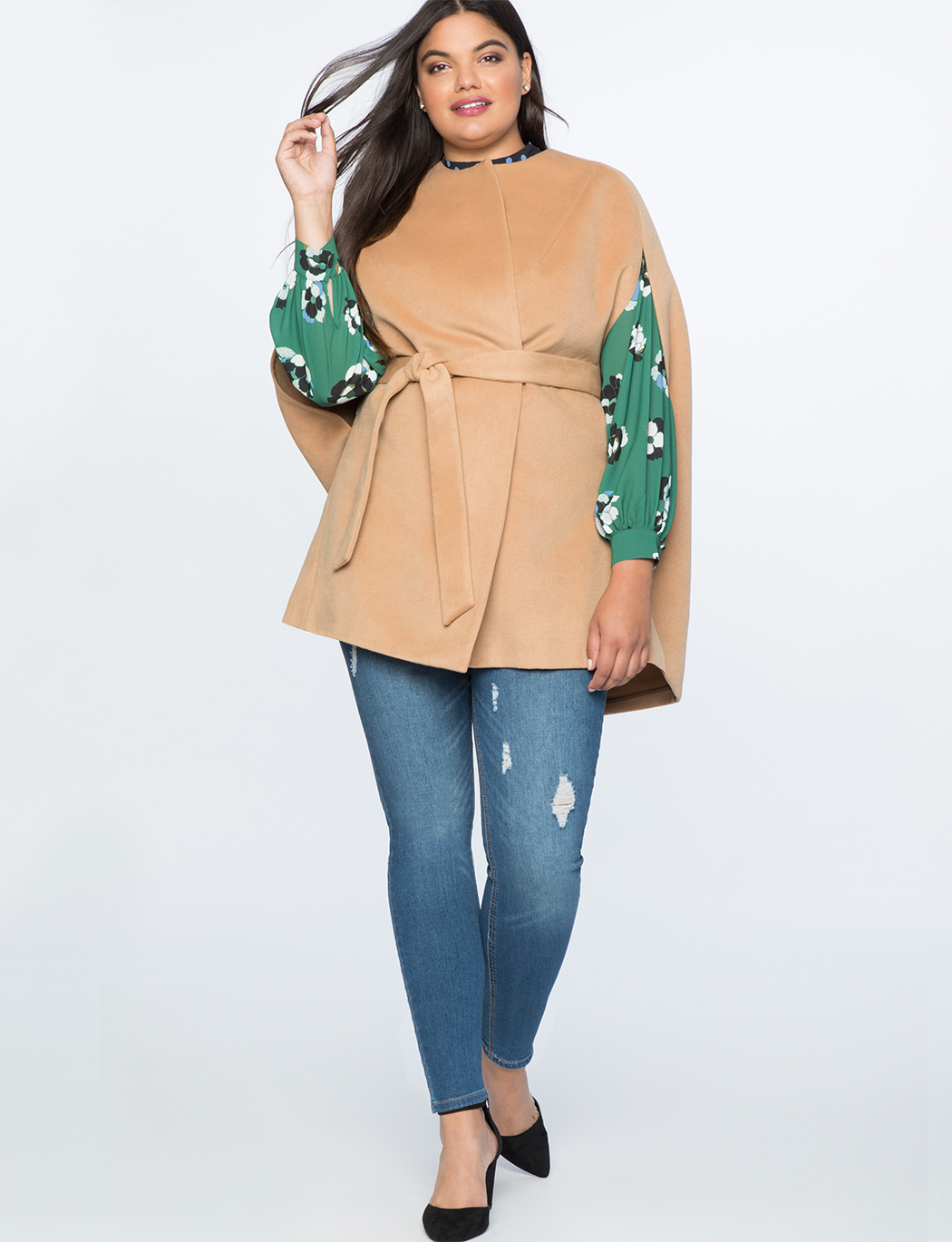 Camel Cape Coat