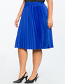 Pleated Midi Skirt PROVENCIAL BLUE