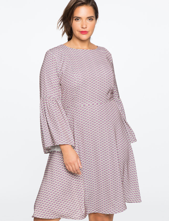 Full Sleeve Fit and Flare Dress