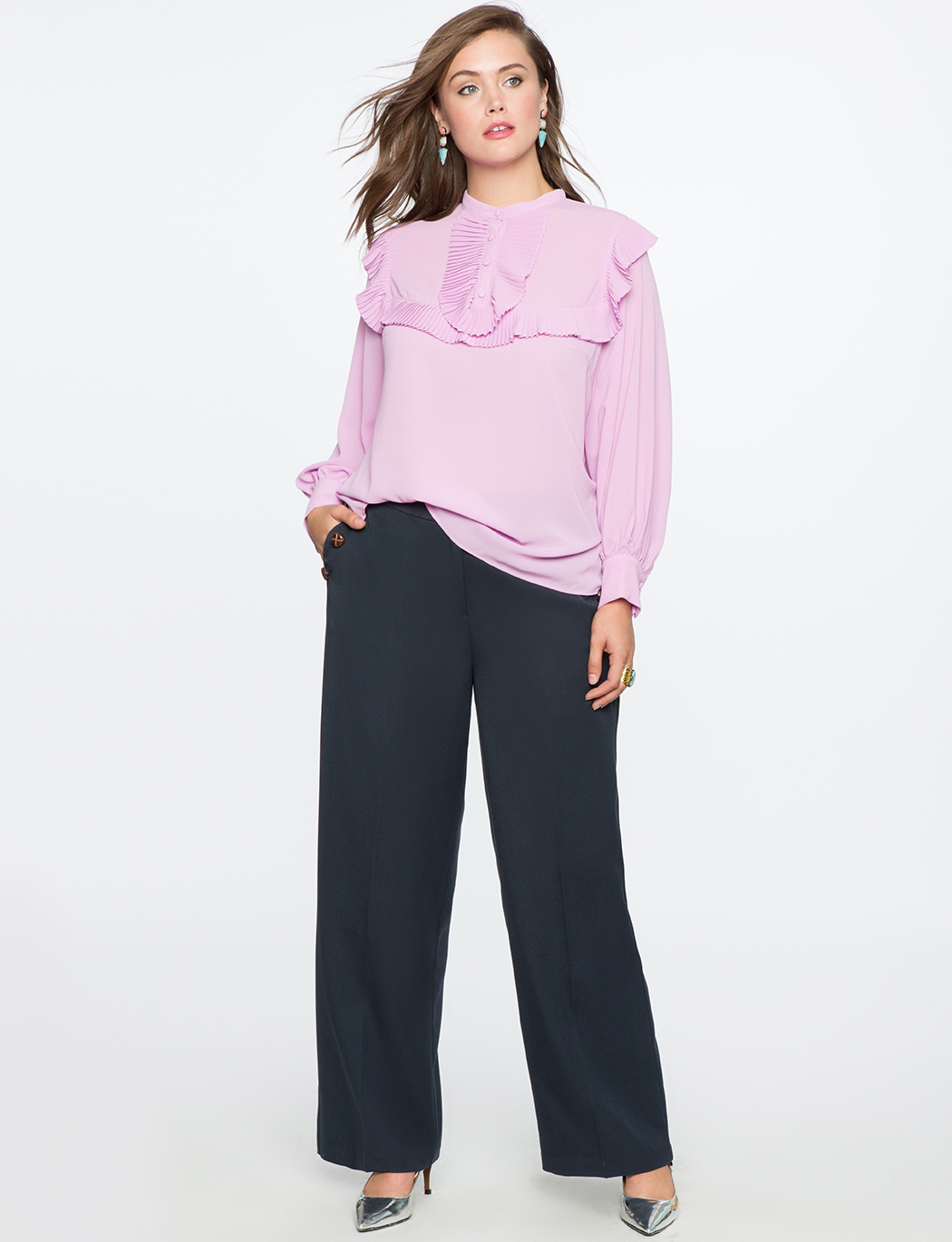 Puff Sleeve Blouse with Ruffles
