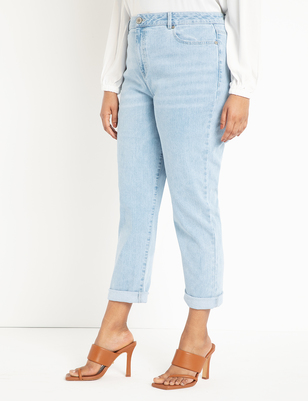 Relaxed Jeans with Roll Cuff