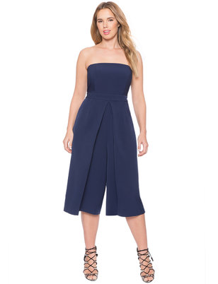 Pleated Strapless Jumpsuit