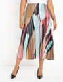 Sunburst Pleated Skirt Hot Mess